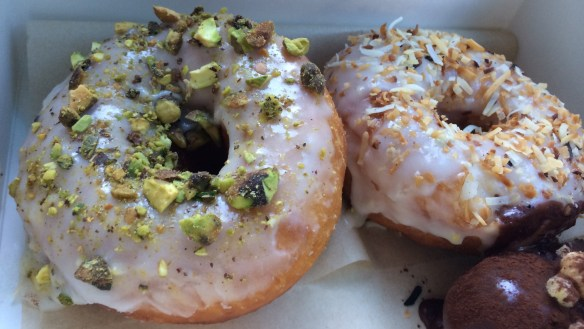 Doughboys Doughnuts - Pistachio & Lime Coconut.