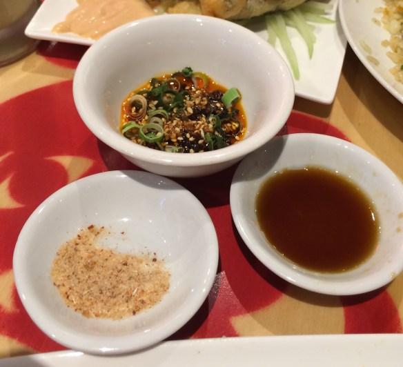 Fa-Fah - Condiments (Chilli oil, sweet soy, chicken salt).