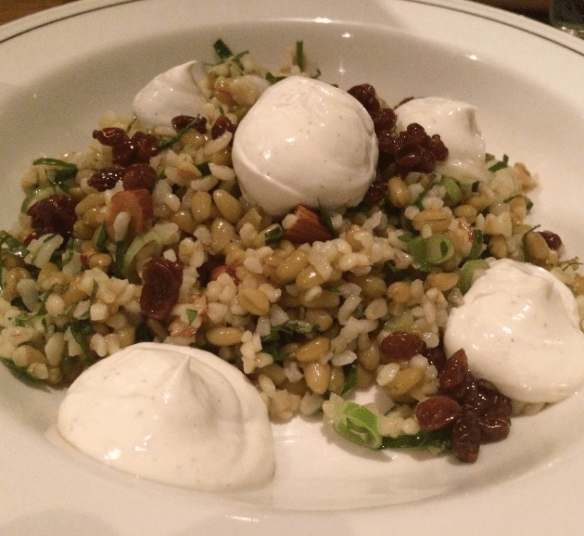 Cumulus Inc. - Cracked wheat and freekeh salad, preserved lemon, barberries.