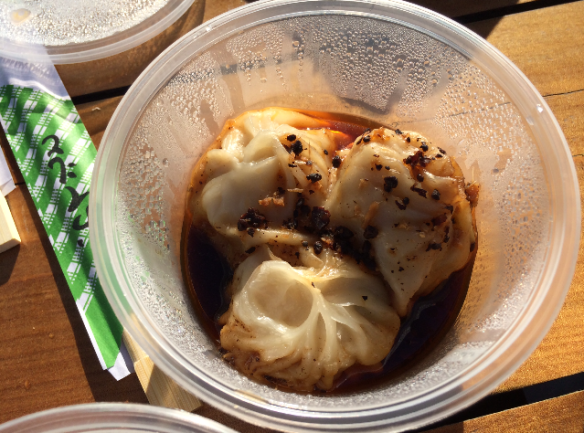 Night Noodle Market 2014 (Melbourne) - Charlie's Dumplings - Steamed pork & ginger dumplings