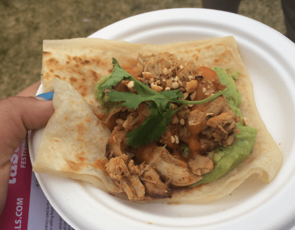 Taste of Melbourne 2014 - Bstilla's Chicken R'fissa Wrap