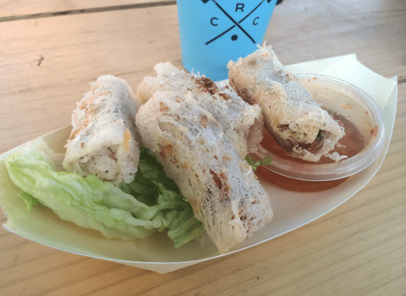 Royal Croquet Club Melbourne - Miss Chu's vegetarian hanoi spring rolls