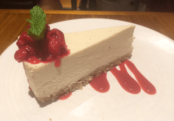 Yong Green Food - Raw white choc cheesecake