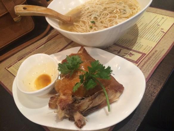 New Shanghai - Deep fried crispy skin chicken w noodle soup