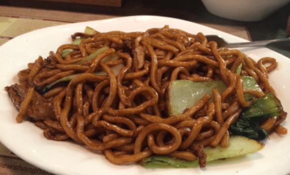 New Shanghai - Shanghai fried noodles w shredded pork & veg