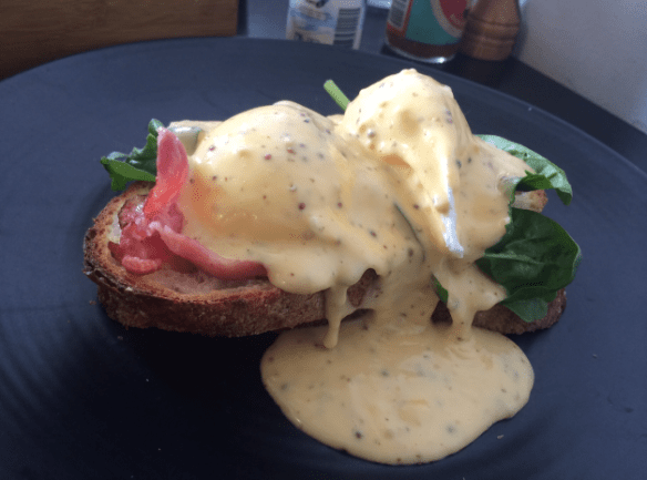 Merchants Guild - Eggs Benedict w smoked ham and seeded mustard hollandaise