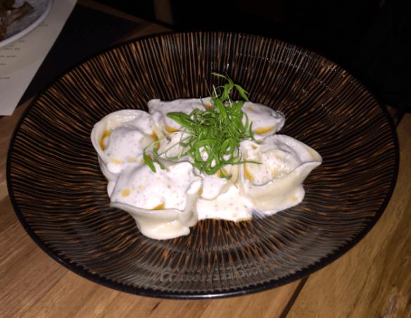 Sezar restaurant - Spanner crab manti (Armenian dumplings)