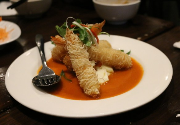 Blue Chillies - King prawns wrapped in vermicelli