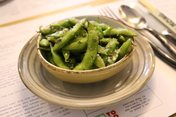 Kong - Woodgrilled endamame w chilli sea salt
