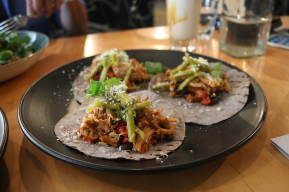 Axil coffee roasters - Pulled pork tacos