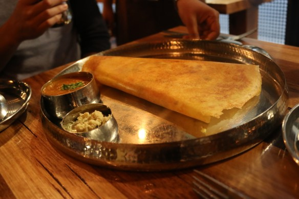Delhi Streets - Dosa filled w spiced potato