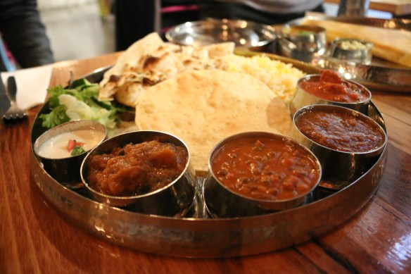 Delhi Streets - Thali - platter of curries