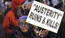 Ισπανοί διαδηλωτές ξανά στους δρόμους εξ αιτίας της λιτότητας.