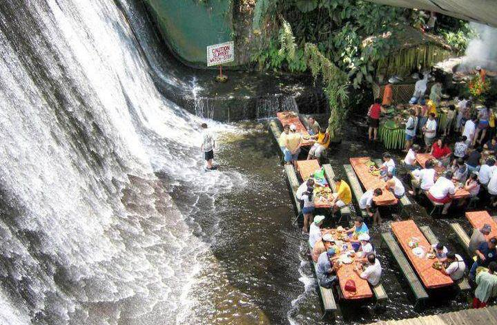 Nica Waterfall Restaurant in Philippines. Perfect place for dinner