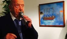 Ο Μίμης Πλέσσας στην πρώτη του έκθεση ζωγραφικής με την κόρη του (βίντεο)
