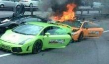 Τρεις Lamborghini καίγονται και κάποιοι κλαίνε (βίντεο)