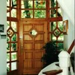 Tiffany madaras bejárati ajtó