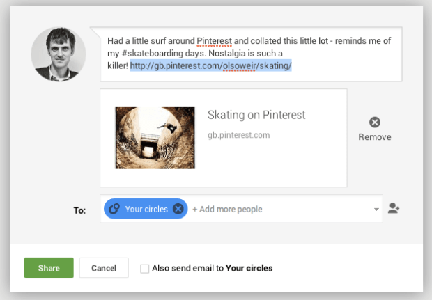 Posting Pinterest Boards to Google+