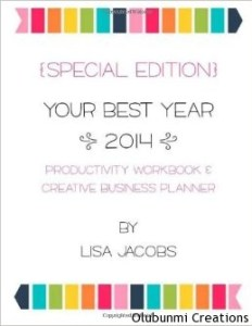 BestYear2014 Goals book by Lisa Jacobs