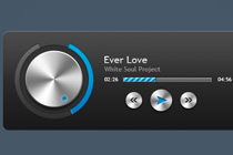 Free PSD Music Player