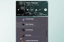 Free PSD Flat Music Player