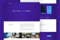 free luna website template
