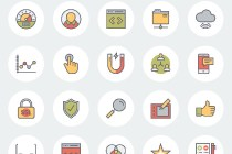 flat ux and ecommerce icons