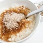 Milchreis mit Zimt und Zucker