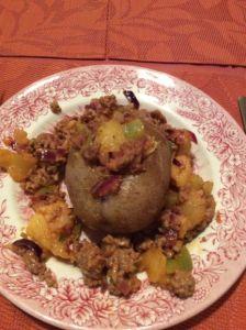 Kartoffeln mit Hackfleischfüllung