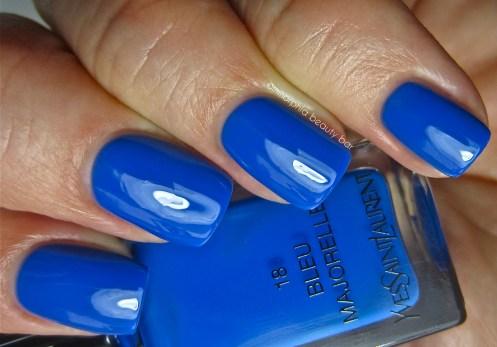 YSL Bleu Majorelle swatch 2