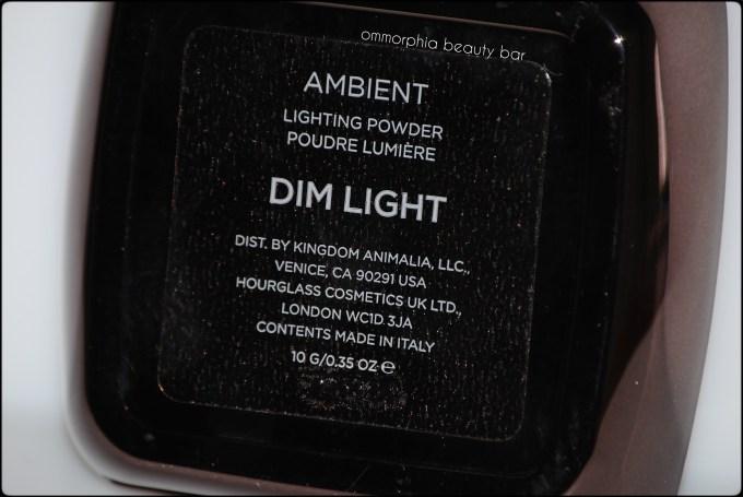 Hourglass Dim Light compact back