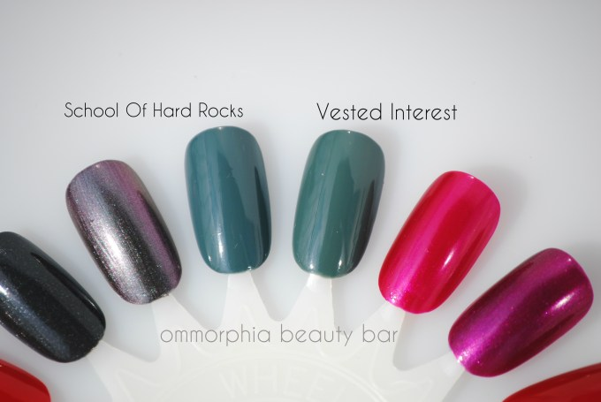Essie Fall 2013 green comparisons