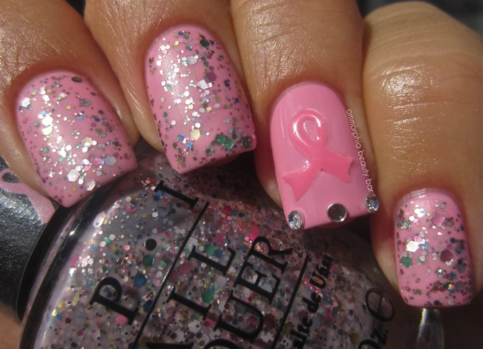 OPI Pink Of Hearts 2013 swatch matte 2