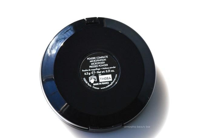 MUFE HD Pressed Powder label