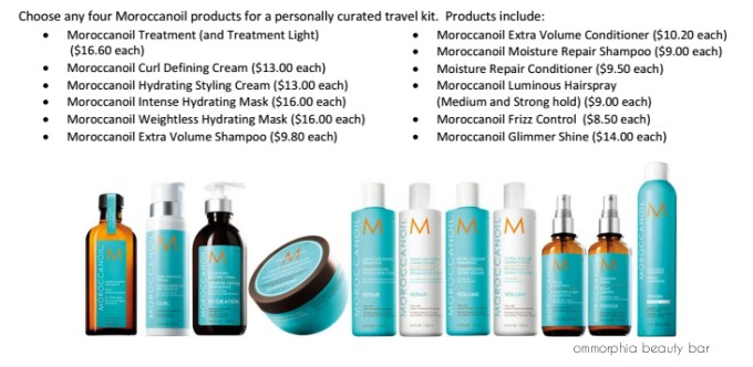 Moroccanoil Travel Kit selections