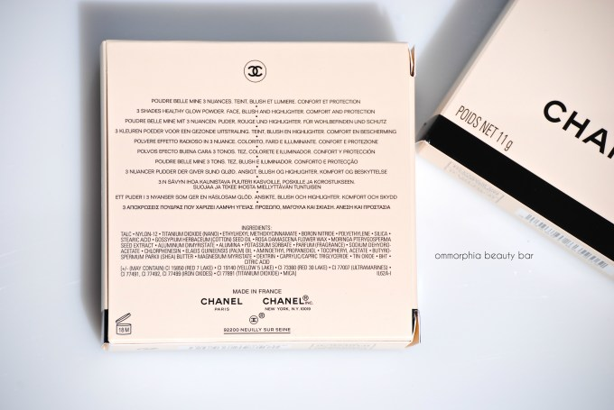 CHANEL Les Beiges Healthy Glow ingredients