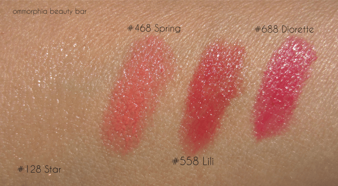 Dior Rouge Baume swatches