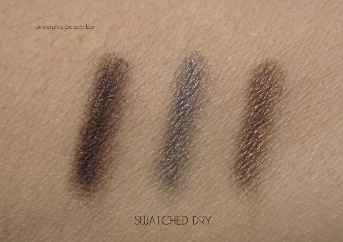 GA Orient Excess Palette eyeshadow swatches dry