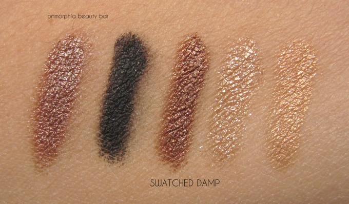 Lancome Or Vendome swatches damp