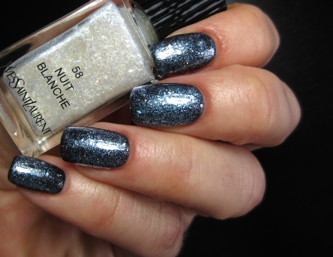 YSL Nuit Blanche over Nuit Noire swatch 2