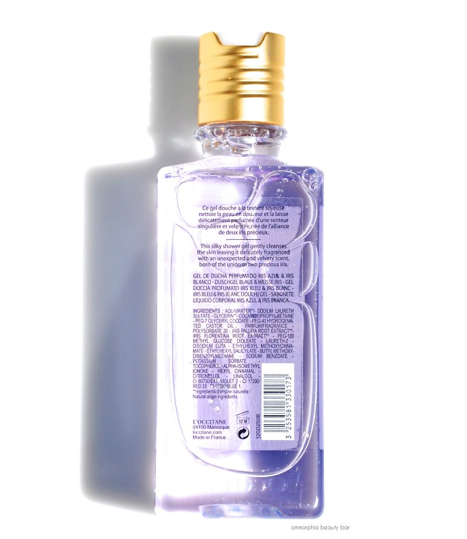 L'Occitane Iris Bleu & Iris Blanc Shower Gel ingredients