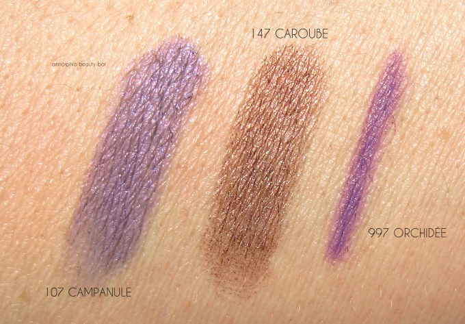 CHANEL Summer 2015 eye pencil swatches