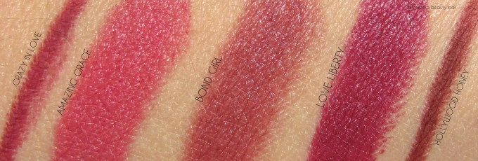 CT Matte Revolution Lipsticks & Lip Cheats swatches 1