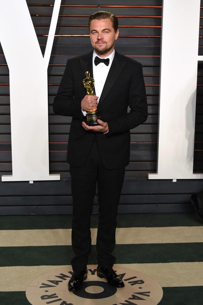 Leo with oscar