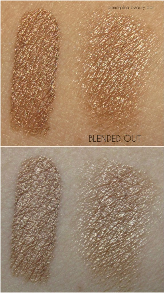 YSL Bonnie Copper Full Metal Shadow swatches