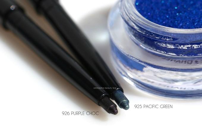 CHANEL Pacific Green & Purple Choc eyeliners macro