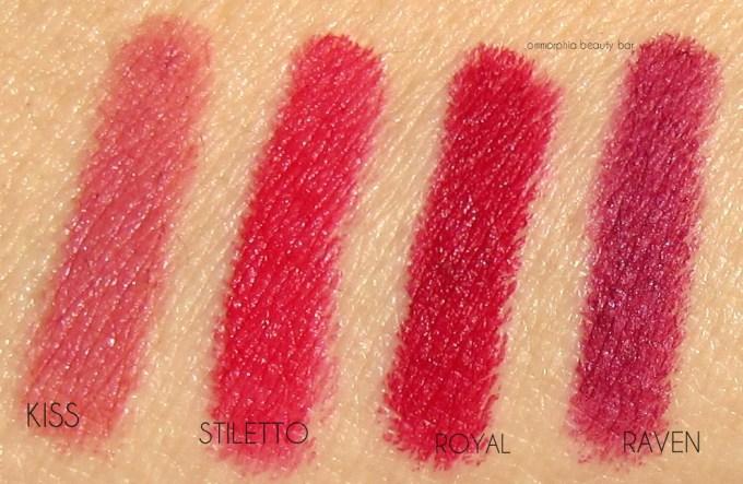 NUDESTIX Intense Matte red lippies swatches