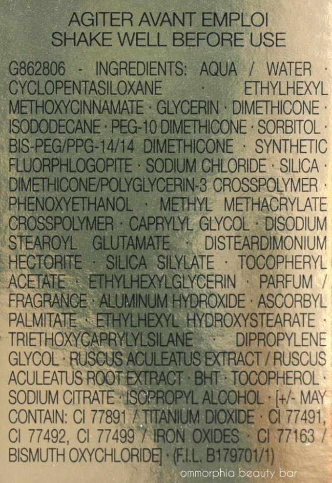 YSL Touche Eclat Le Teint ingredients