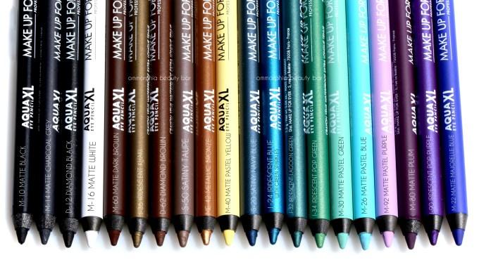 MUFE Aqua XL pencils 3