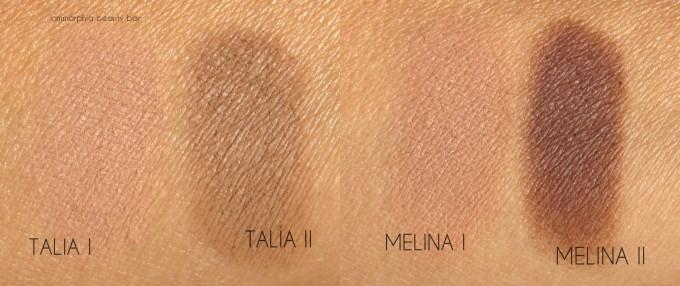 NARS Talia & Melina swatches